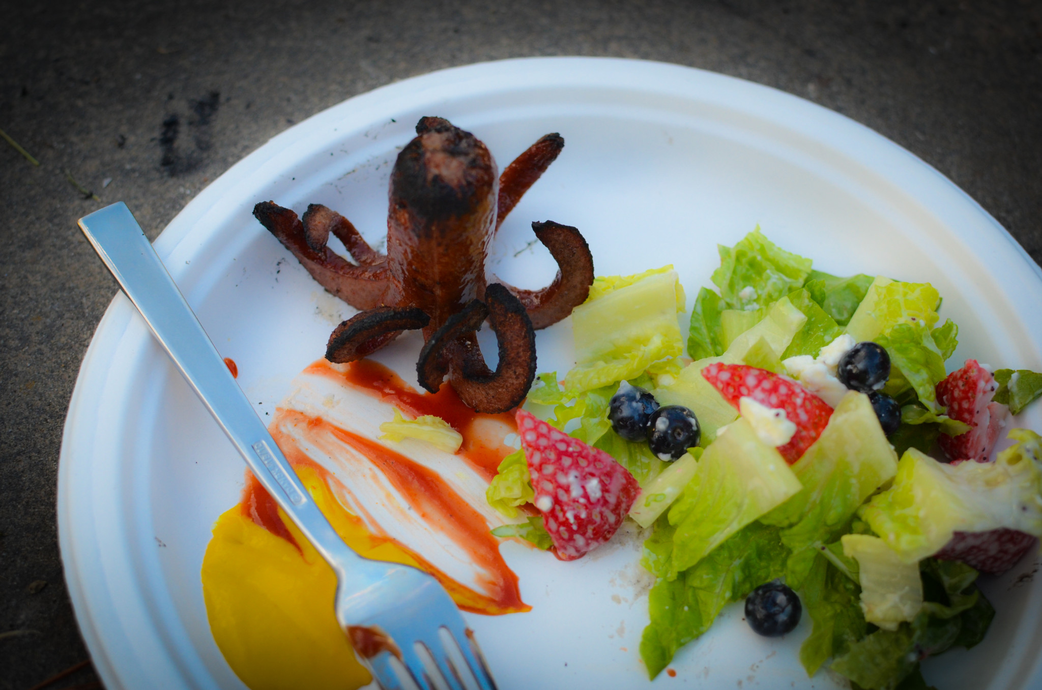 Campfire Hot Dog Octopus | Cook With Amber