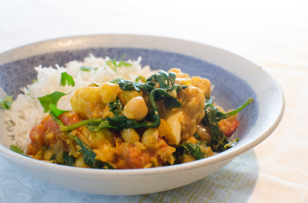 Cauliflower and Chickpea Curry | Cook With Amber