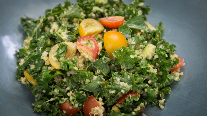 Tomato Avocado Quinoa Kale Salad Cook With Amber