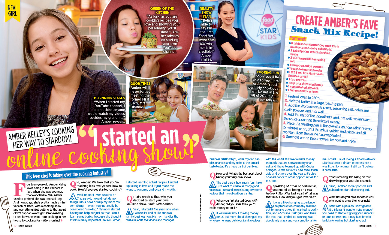 What?! I'm Featured in Teen Boss Magazine! :D – Cook With Amber