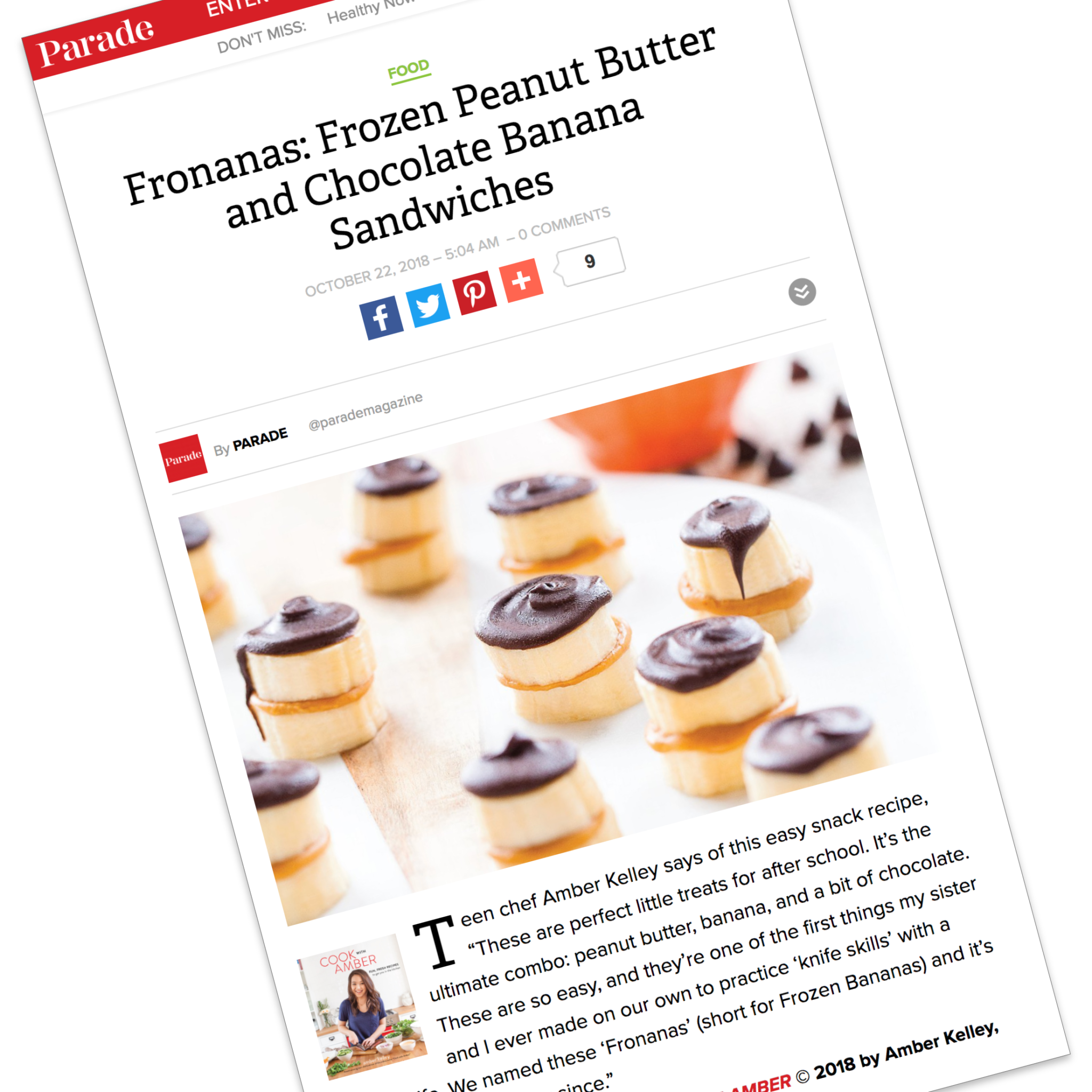 Fronanas: Frozen Peanut Butter and Chocolate Banana Sandwiches